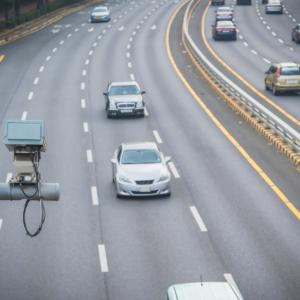 traffic camera in the urban